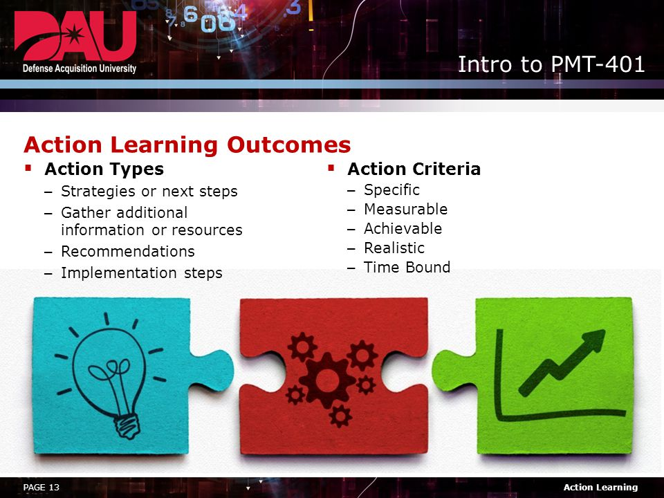 Action Learning Outcomes