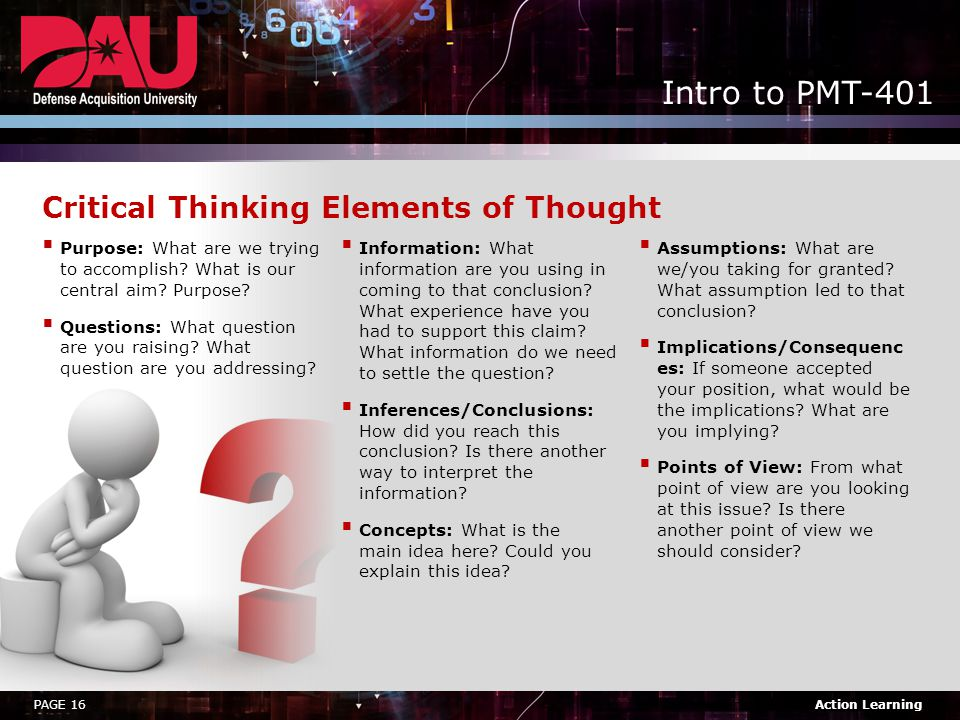 Critical Thinking Elements of Thought