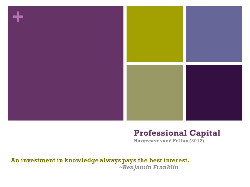 Professional Capital Hargreaves and Fullan (2012)