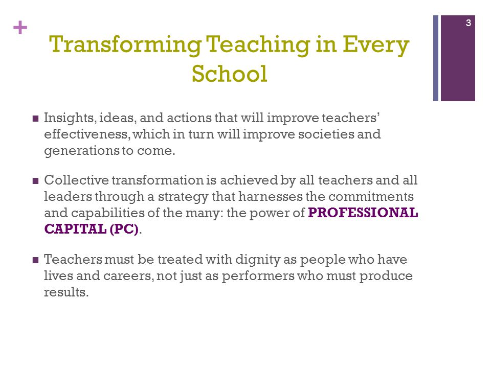 Transforming Teaching in Every School
