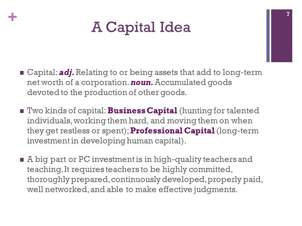 A Capital Idea