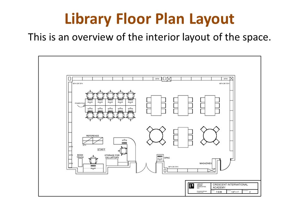 Library Floor Plan Layout