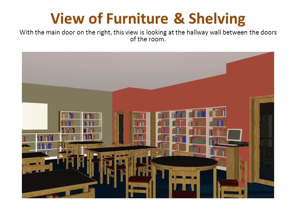 View of Furniture & Shelving