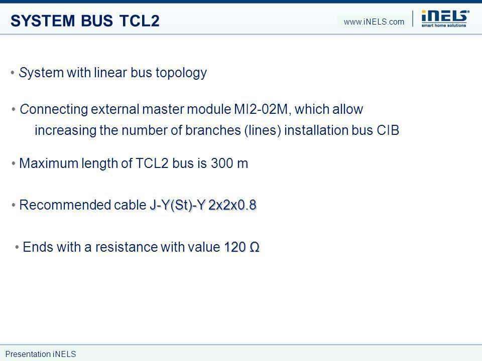 SYSTEM BUS TCL2 System with linear bus topology
