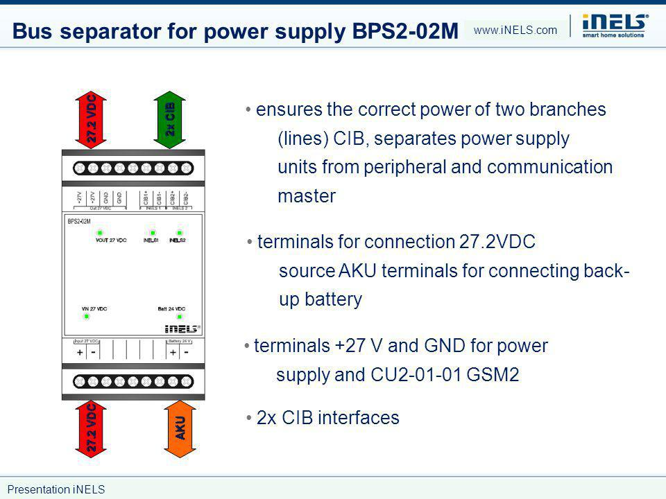 Bus separator for power supply BPS2-02M
