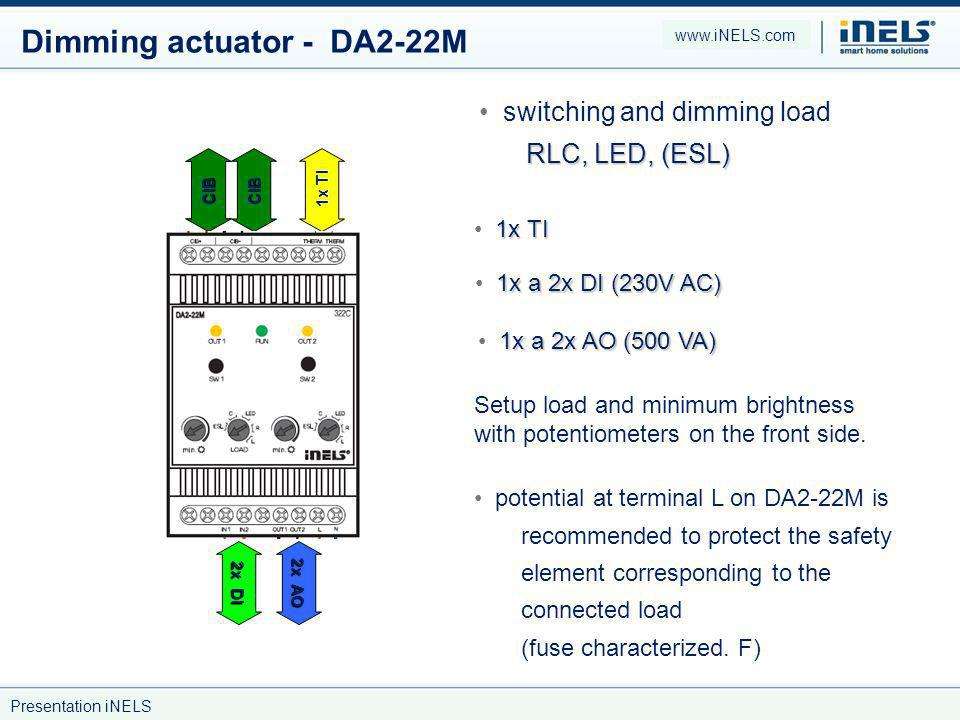 Dimming actuator - DA2-22M