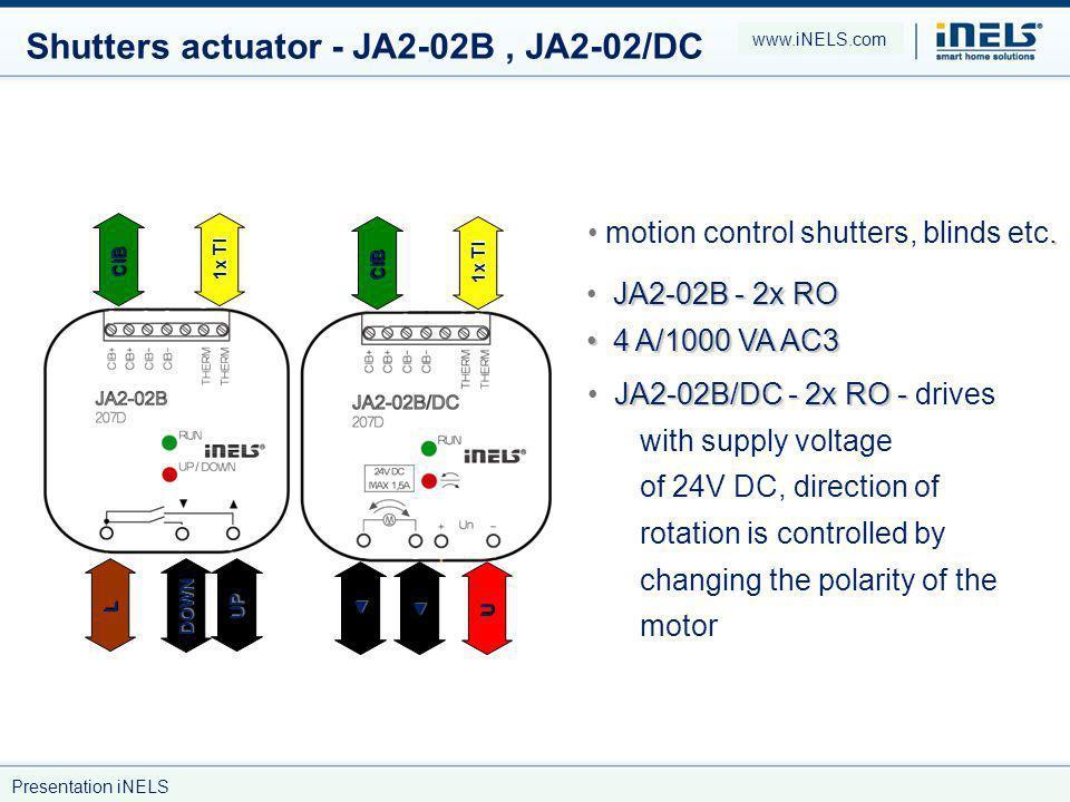 Shutters actuator - JA2-02B , JA2-02/DC