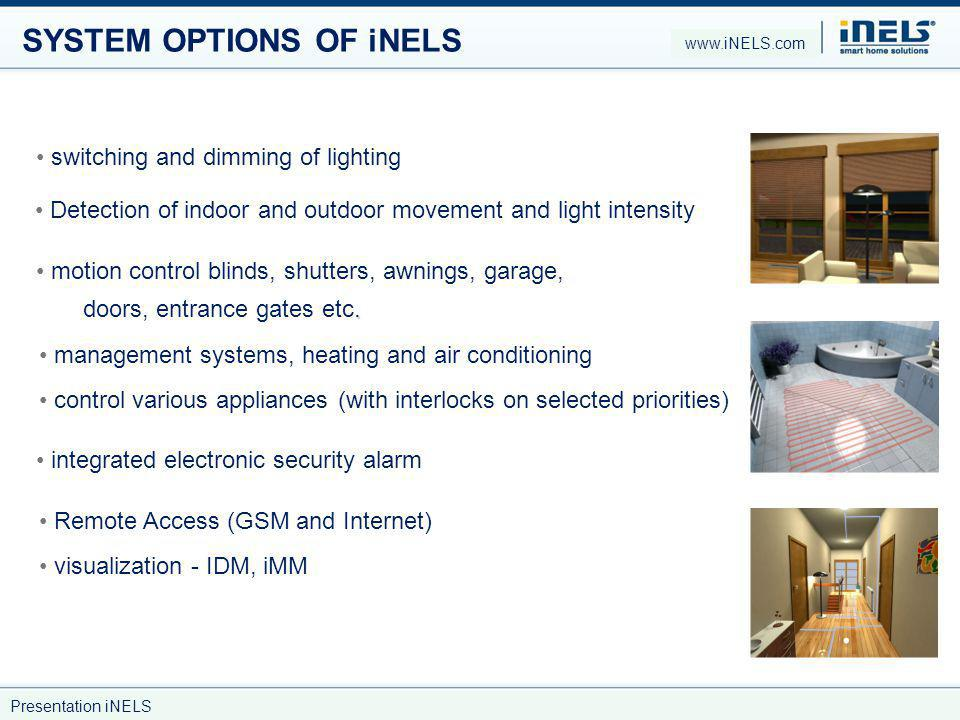 SYSTEM OPTIONS OF iNELS