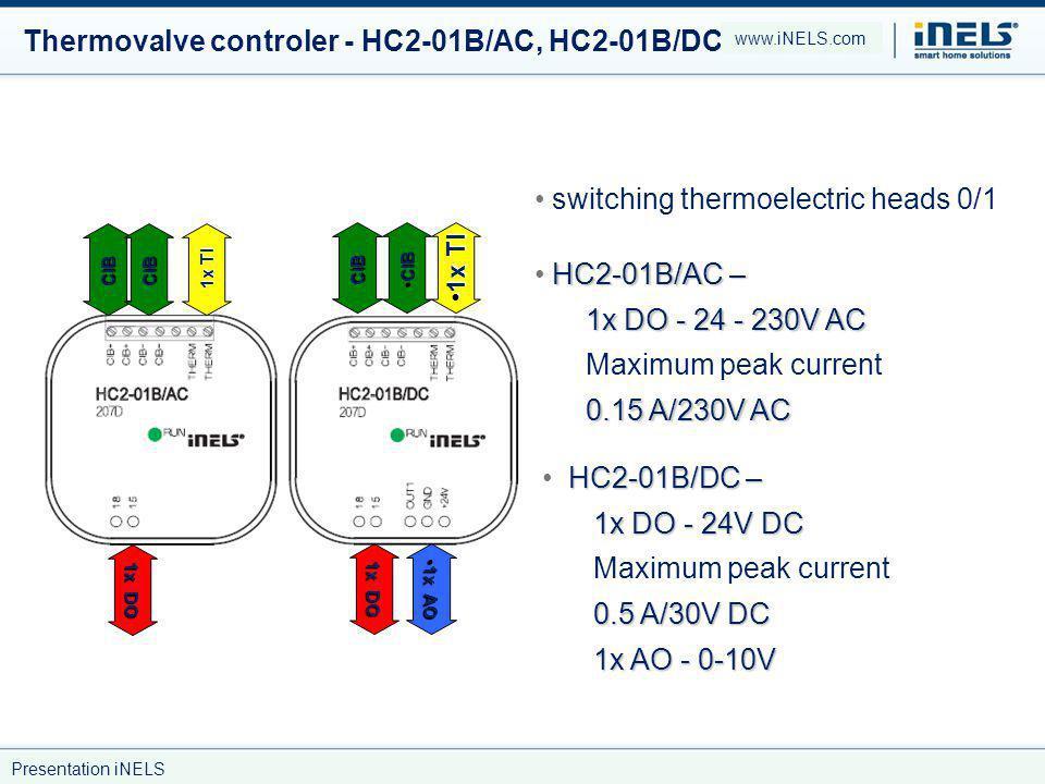 Thermovalve controler - HC2-01B/AC, HC2-01B/DC