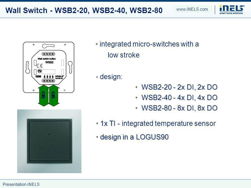 Wall Switch - WSB2-20, WSB2-40, WSB2-80