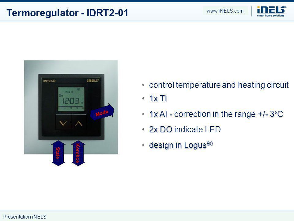 Termoregulator - IDRT2-01