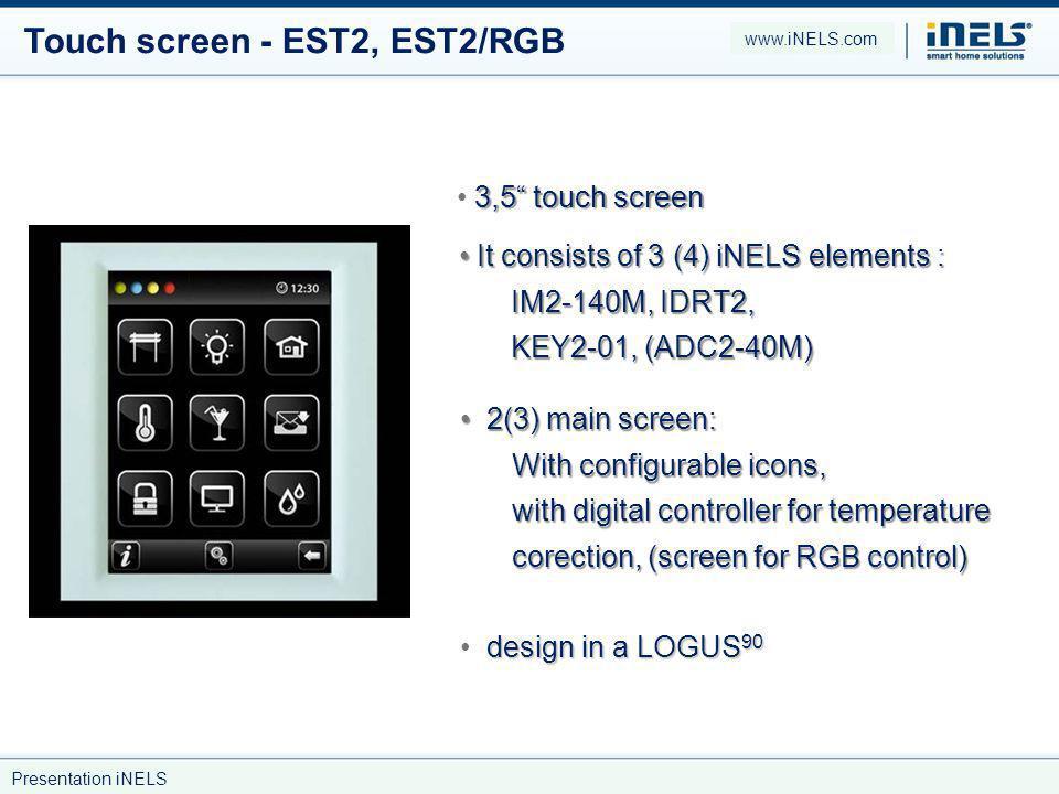 Touch screen - EST2, EST2/RGB