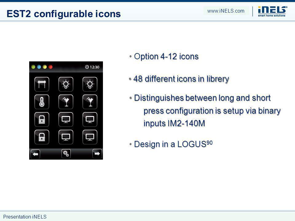 EST2 configurable icons
