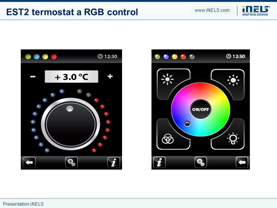 EST2 termostat a RGB control