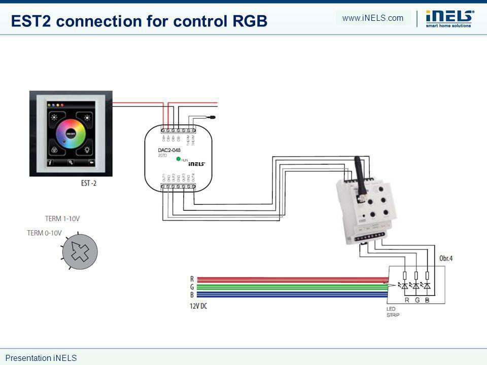 EST2 connection for control RGB