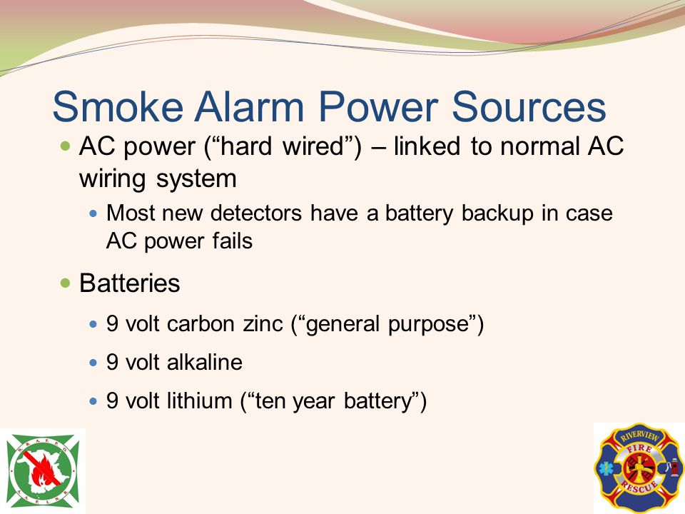 Smoke Alarm Power Sources