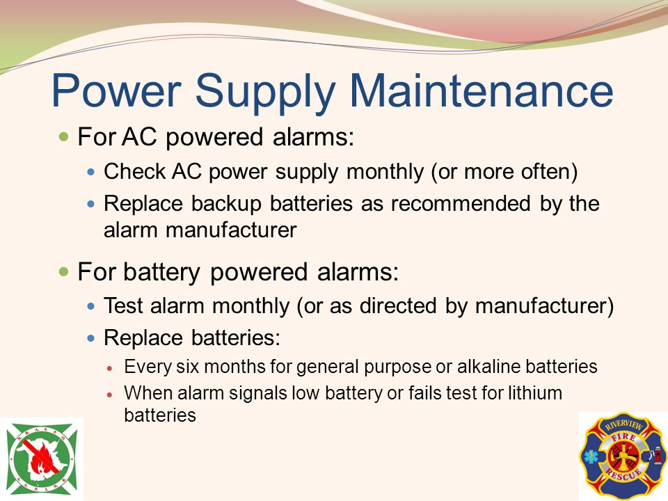 Power Supply Maintenance