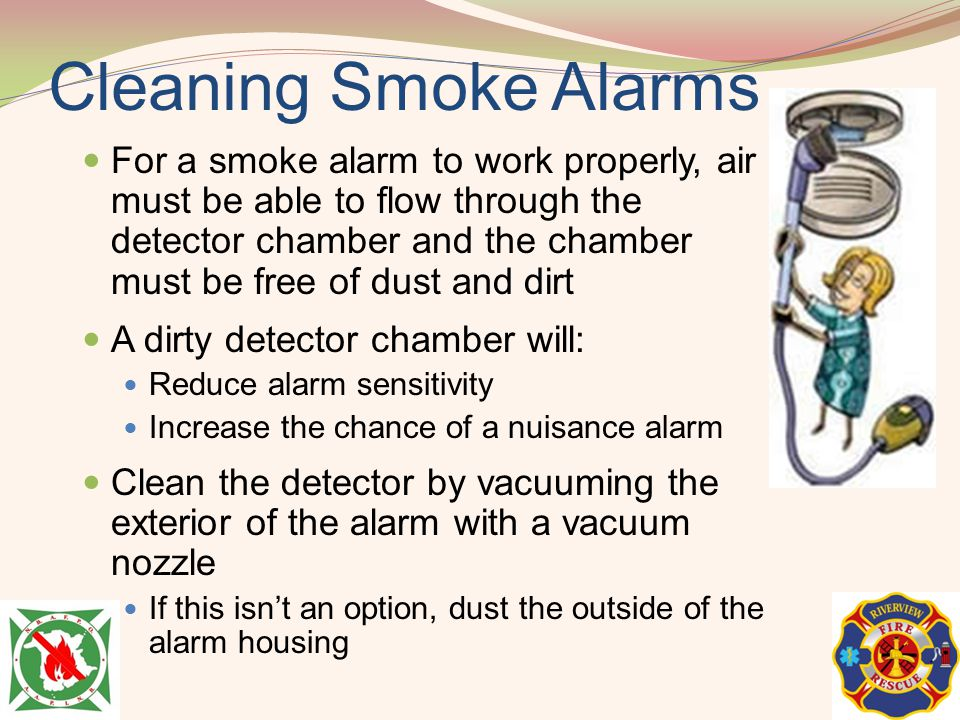 Cleaning Smoke Alarms