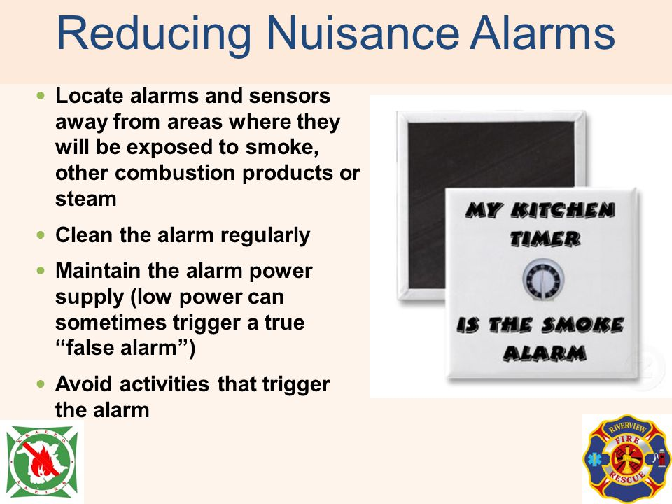 Reducing Nuisance Alarms