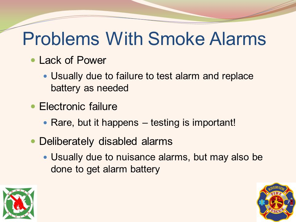Problems With Smoke Alarms