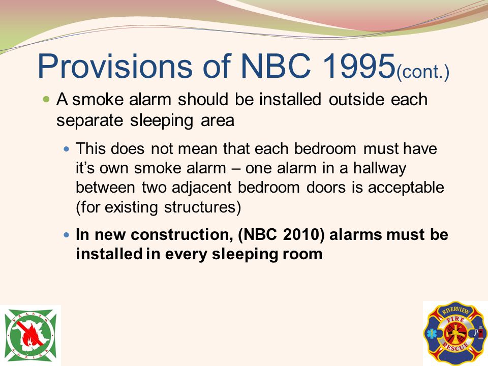 Provisions of NBC 1995(cont.)