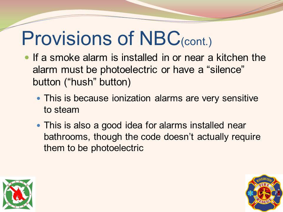 Provisions of NBC(cont.)
