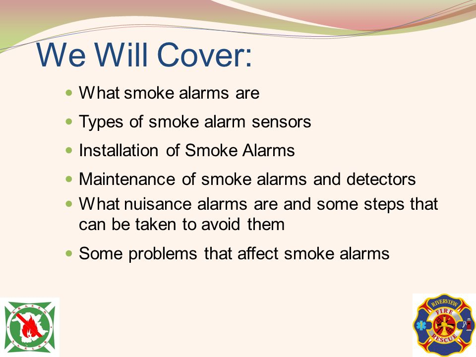 We Will Cover: What smoke alarms are Types of smoke alarm sensors