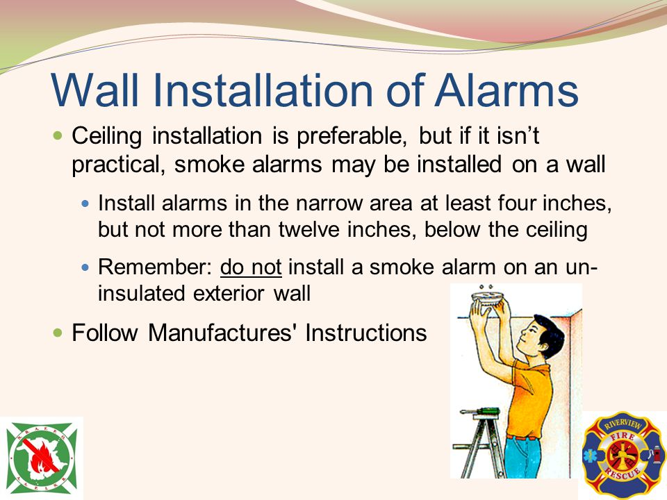Wall Installation of Alarms