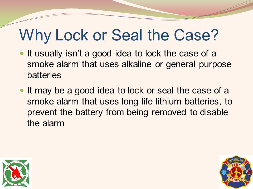Why Lock or Seal the Case