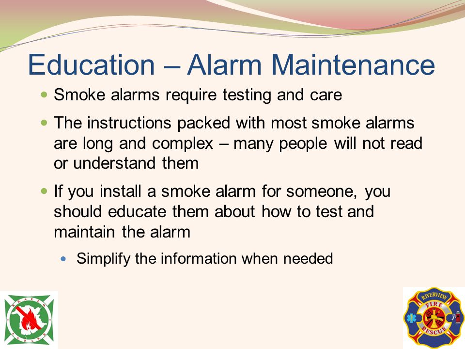 Education – Alarm Maintenance