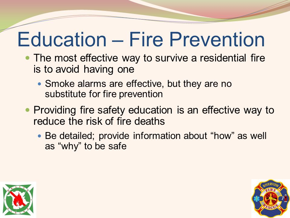 Education – Fire Prevention