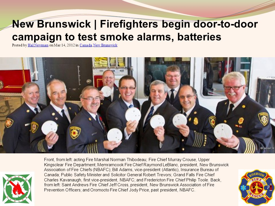 New Brunswick | Firefighters begin door-to-door campaign to test smoke alarms, batteries