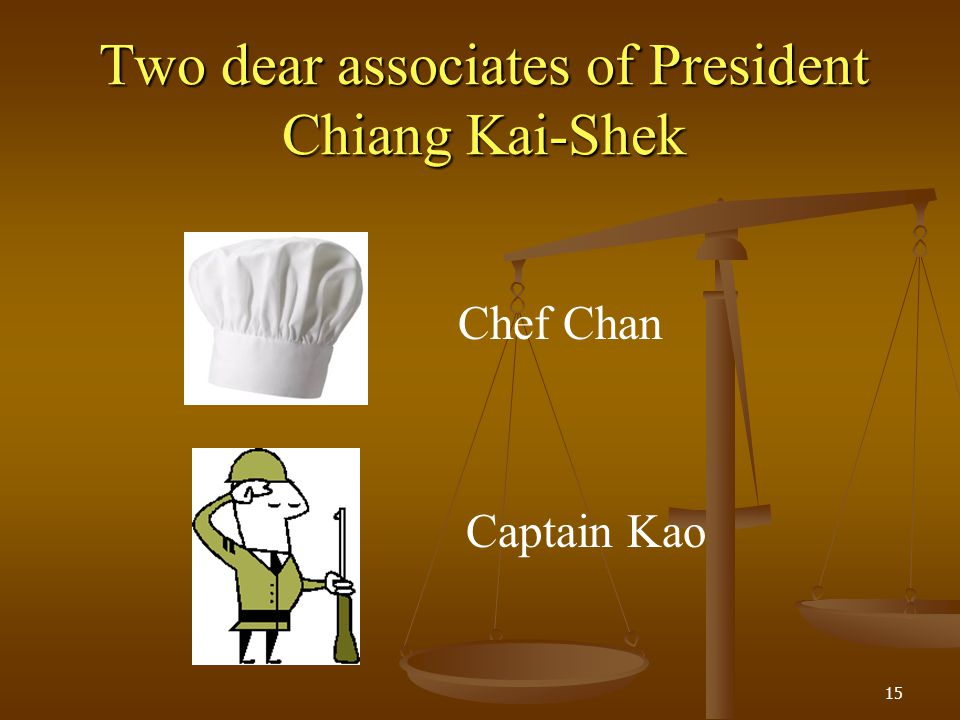 Two dear associates of President Chiang Kai-Shek