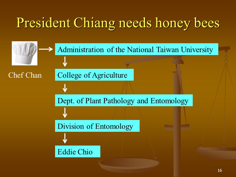 President Chiang needs honey bees