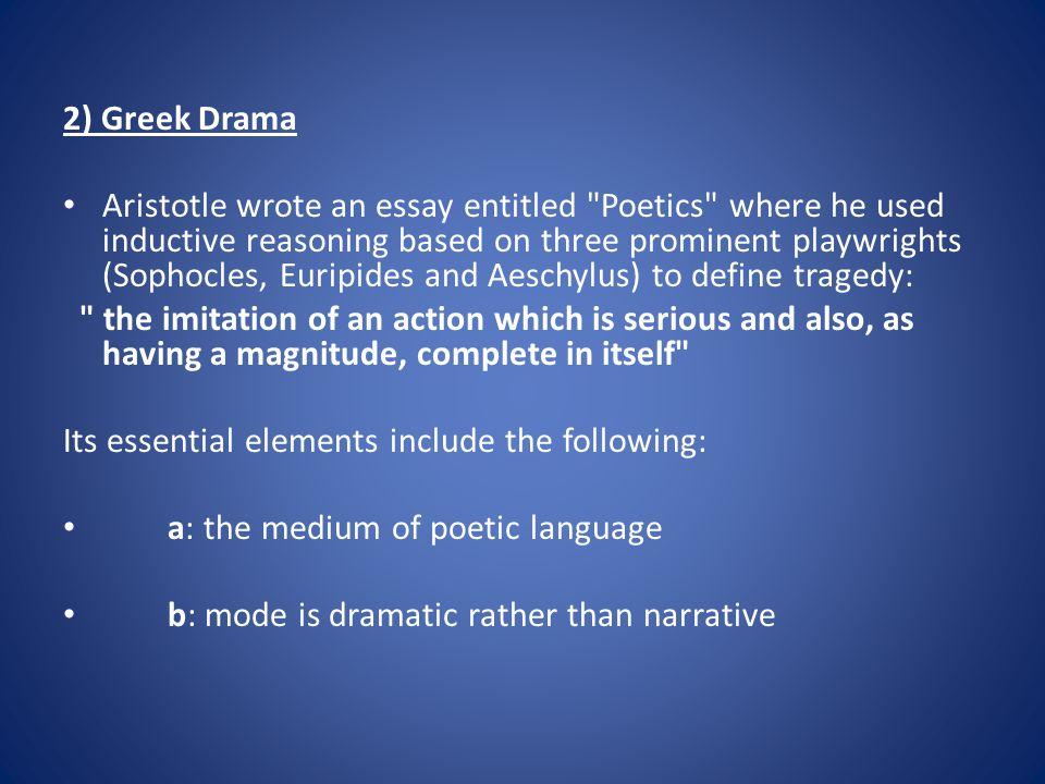 2) Greek Drama