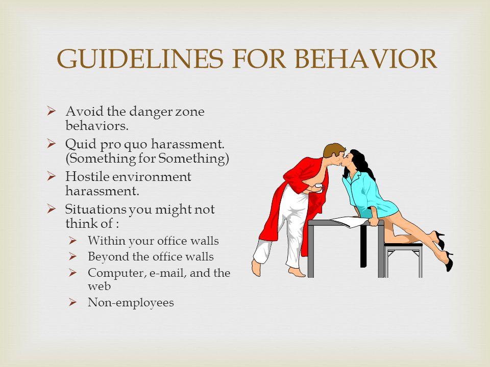GUIDELINES FOR BEHAVIOR