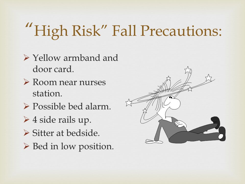 High Risk Fall Precautions: