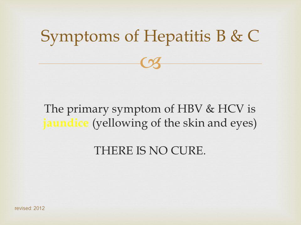 Symptoms of Hepatitis B & C