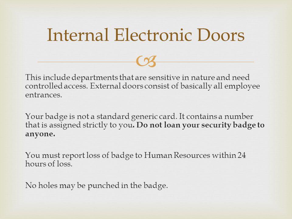 Internal Electronic Doors