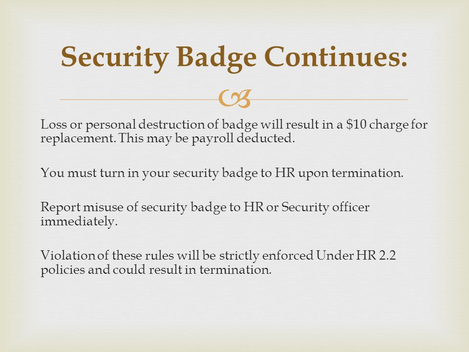 Security Badge Continues: