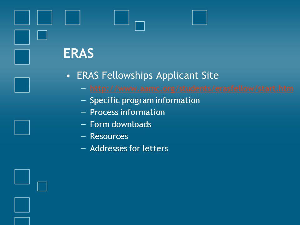 ERAS ERAS Fellowships Applicant Site