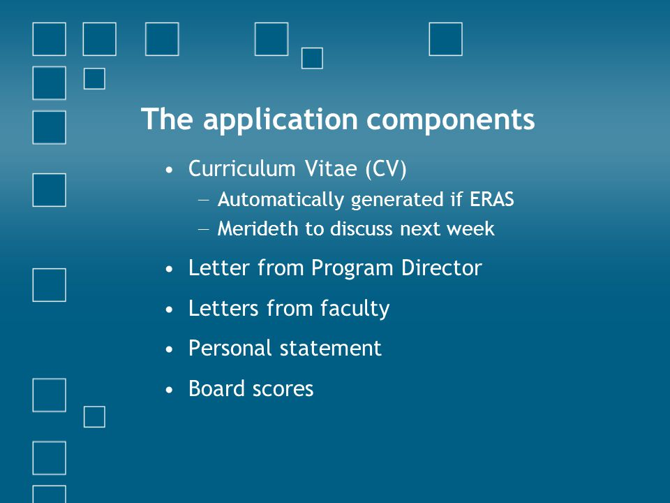 The application components