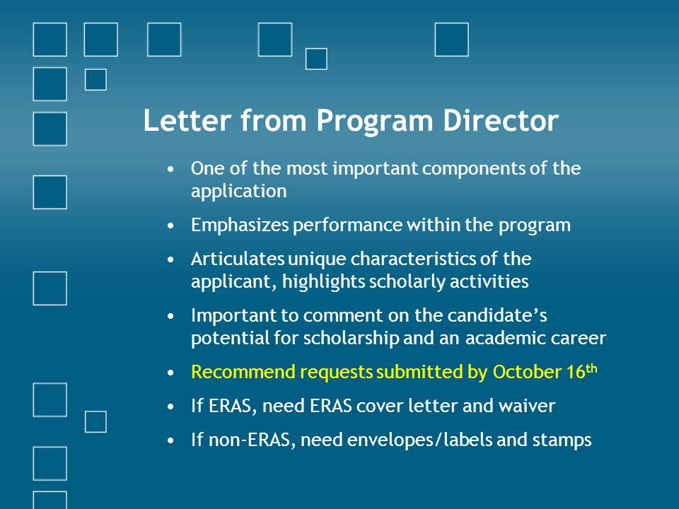 Letter from Program Director