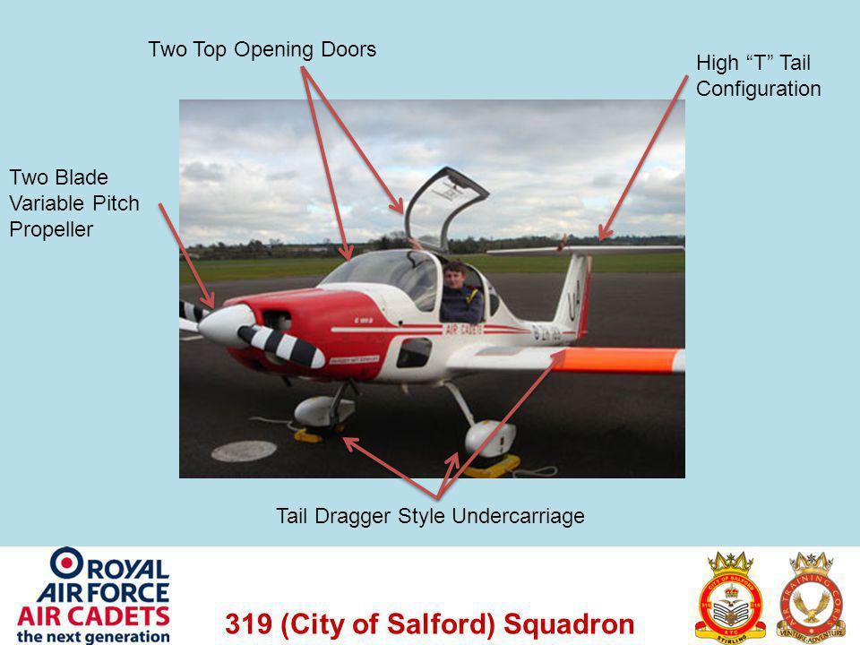 Two Top Opening Doors High T Tail Configuration.