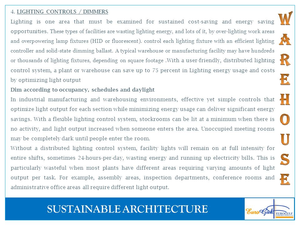 4. LIGHTING CONTROLS / DIMMERS