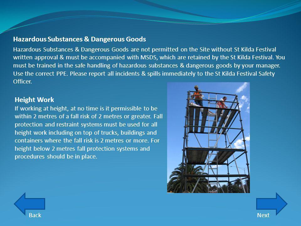 Hazardous Substances & Dangerous Goods