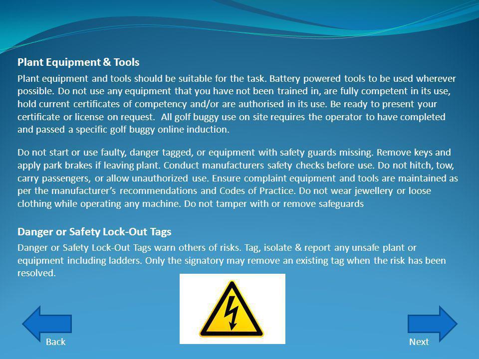 Plant Equipment & Tools