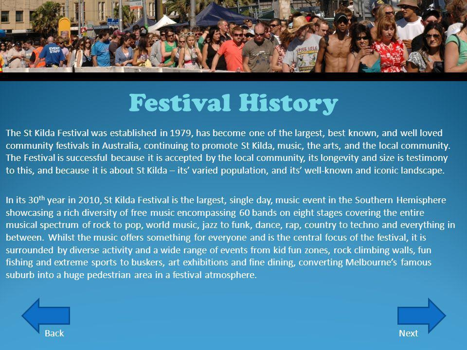 Festival History