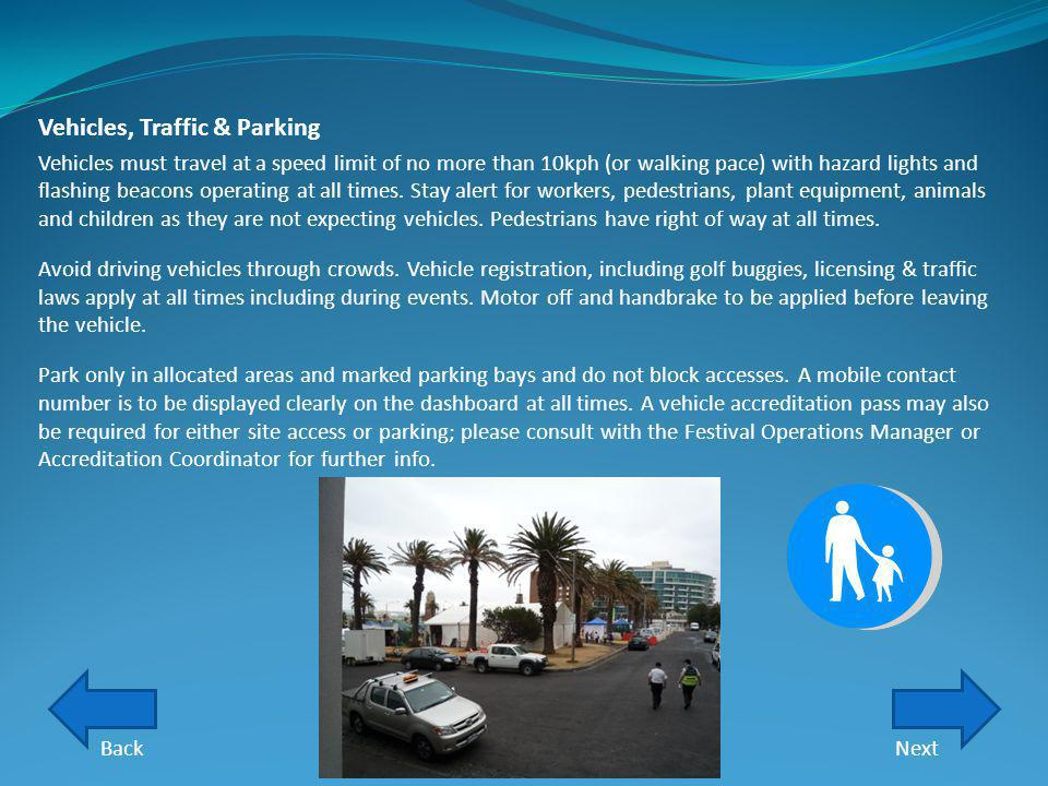 Vehicles, Traffic & Parking