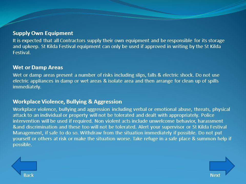 Workplace Violence, Bullying & Aggression